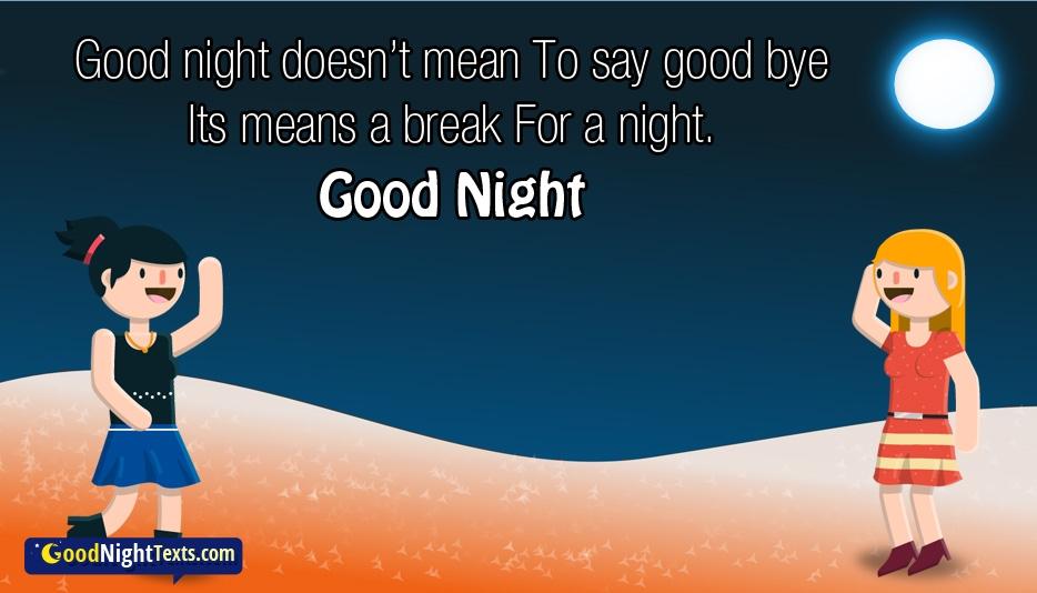 Good Night Doesn