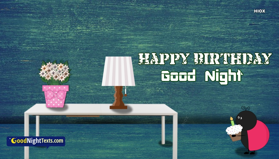 Happy Birthday Good Night Texts