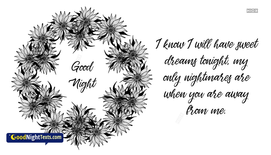 Good Night Love Text For Hubby