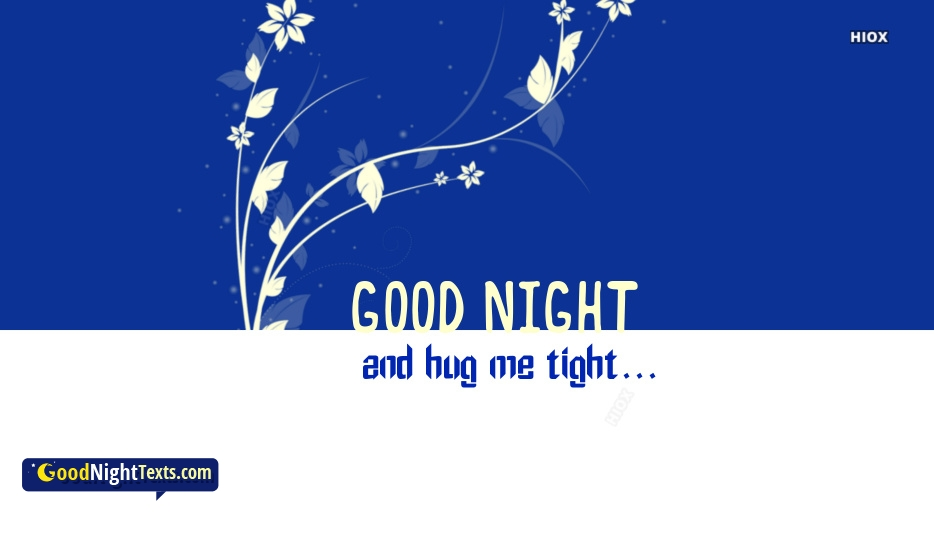 Good Night Messages Hug