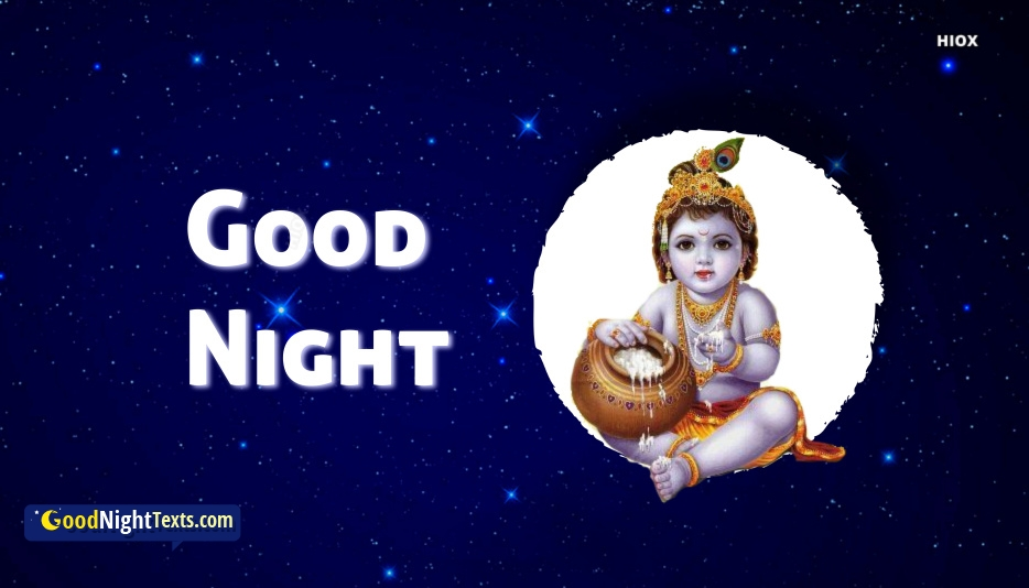 Good Night Messages Lord Krishna