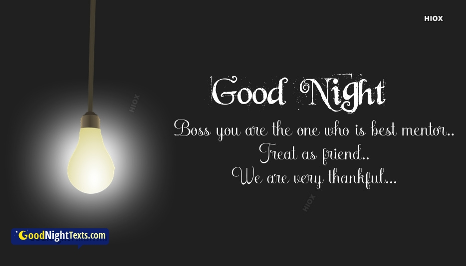 Good Night Messages Sir