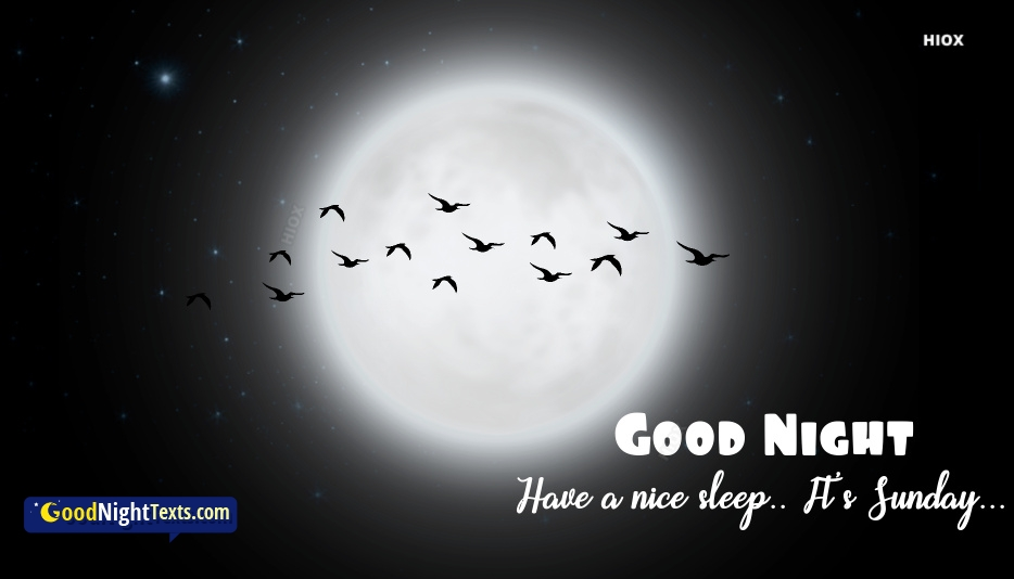 Good Night Messages Sunday