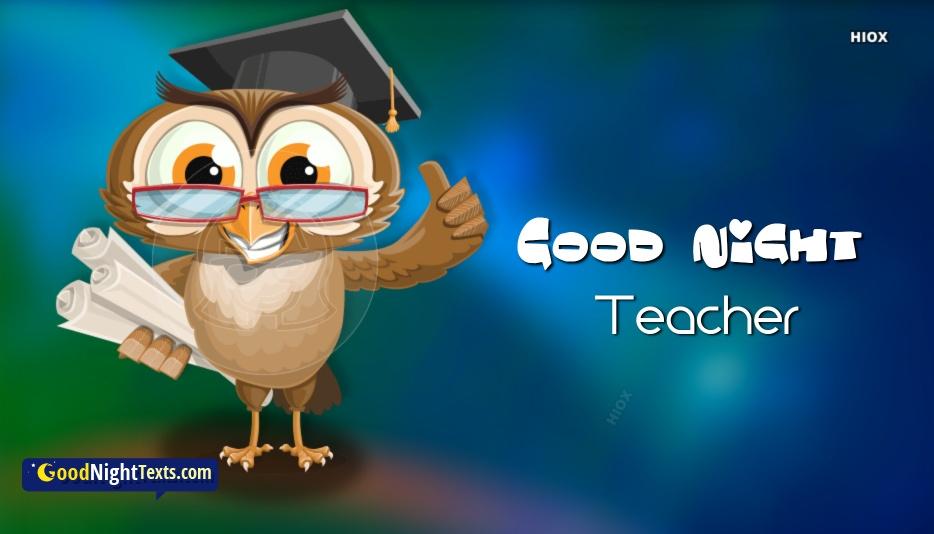Good Night Messages Teacher