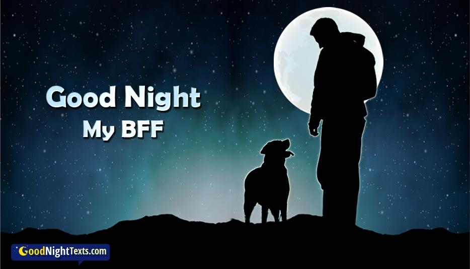 Good Night My BFF - Good Night Texts for Friend