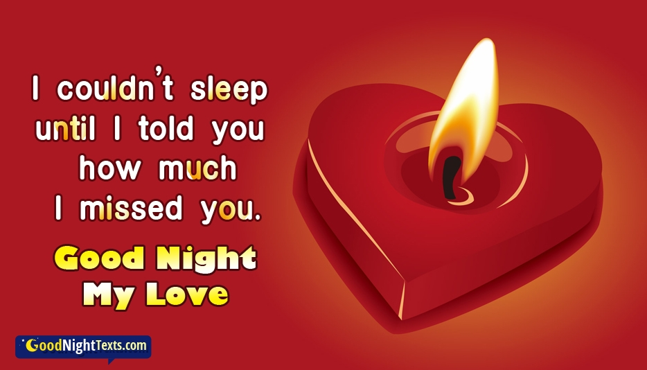 Good Night My Love I Miss You At Goodnighttextscom