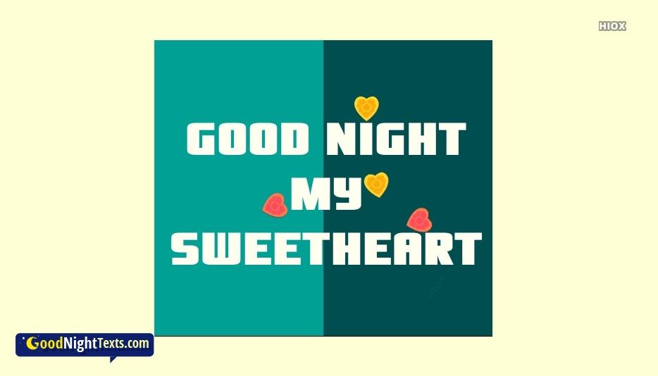Good Night My Sweetheart Ecard