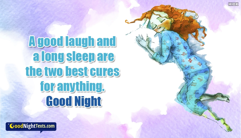 Good Night Quotes About Laugh and Sleep