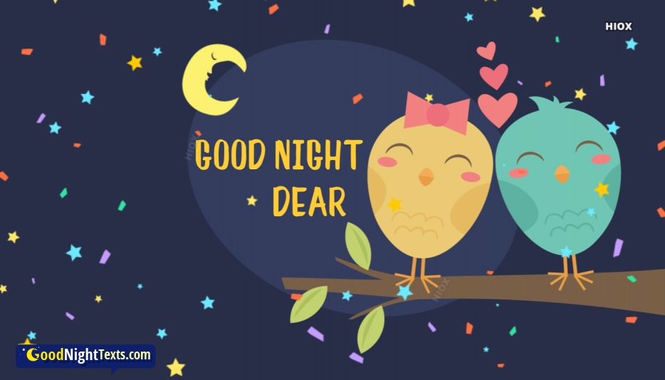 Good Night Messages With Heart Images