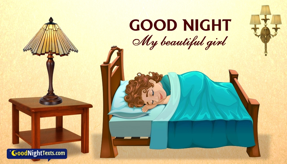 Good Night To Beautiful Girl - Good Night SMS For Lover With Images