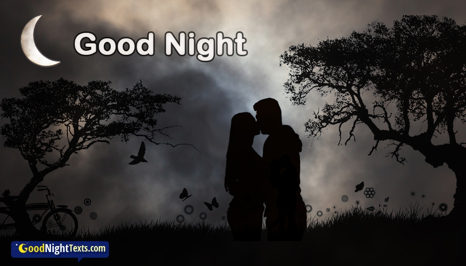 Good Night with Kiss - Romantic Good Night Texts