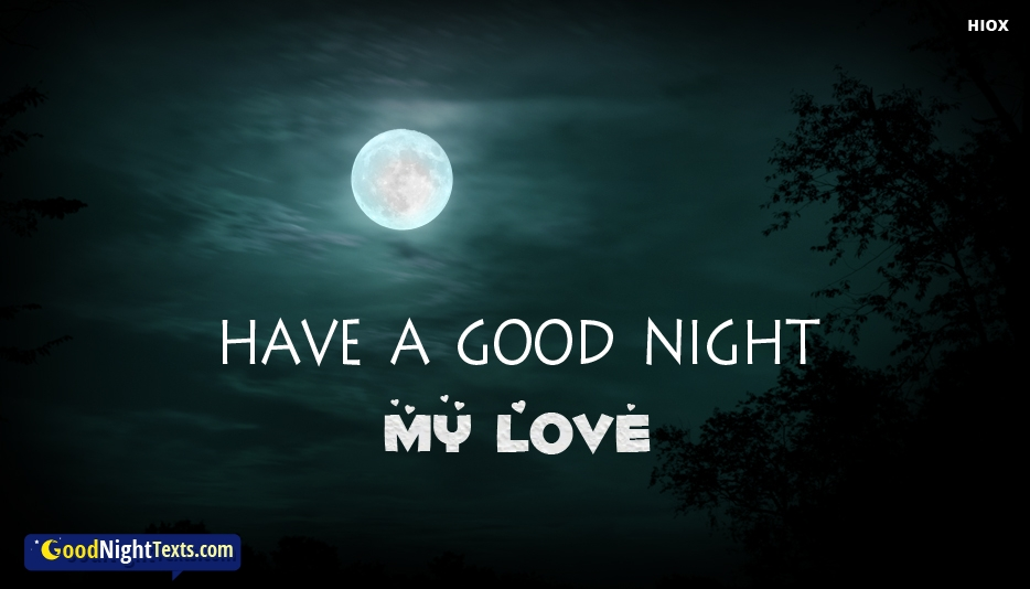 Have A Good Night My Love Sms -  Good Night Texts for SMS