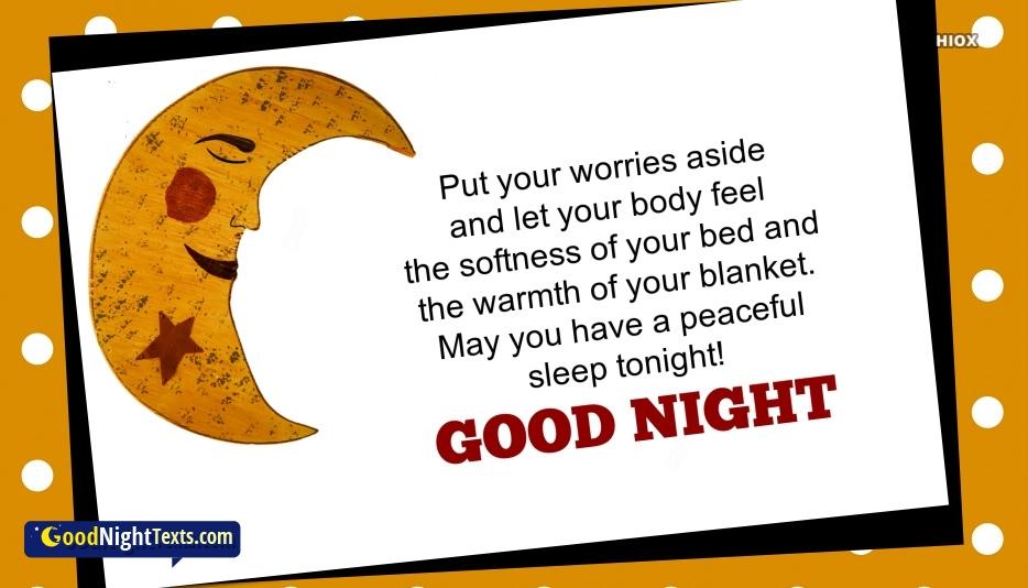 Good Night Texts for Have A Good Sleep
