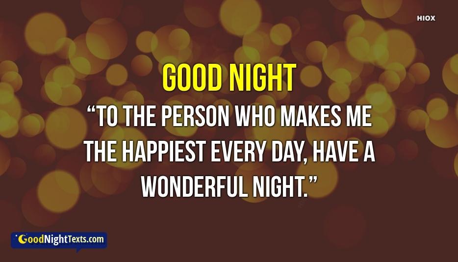 Happy Good Night Texts