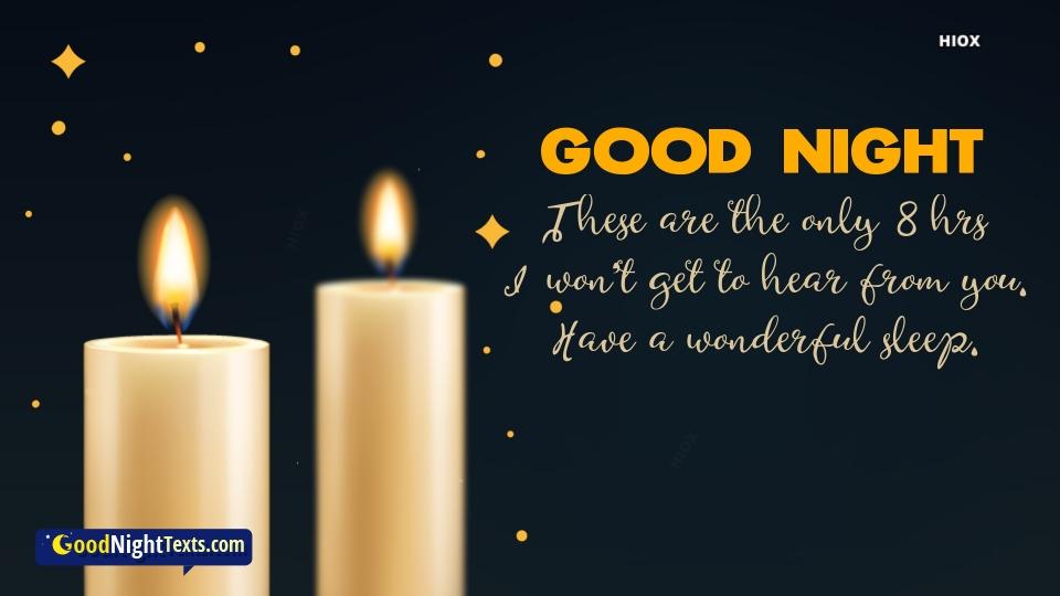 Good Night Texts for Wonderful