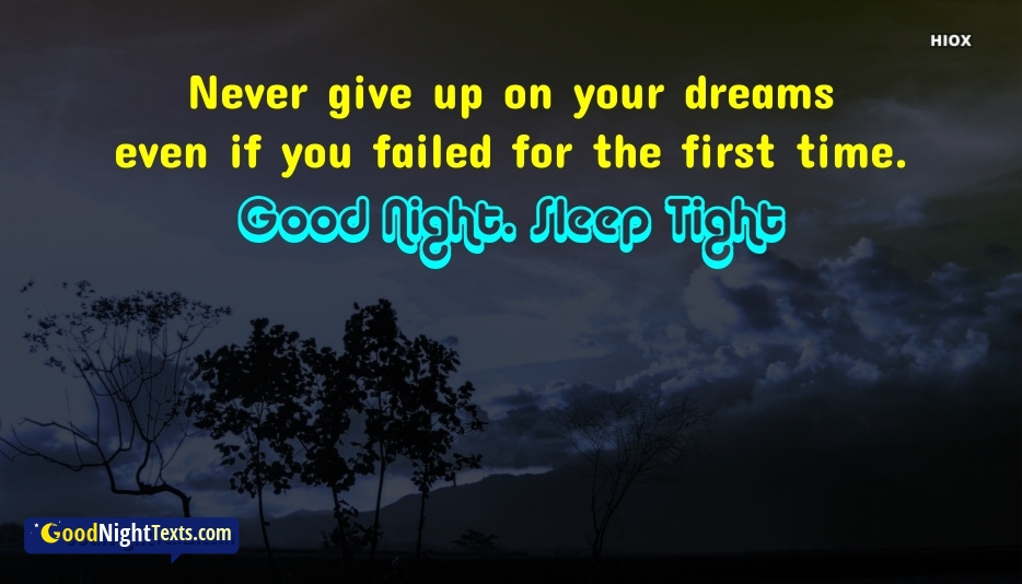 Good Night Texts for Never Give Up
