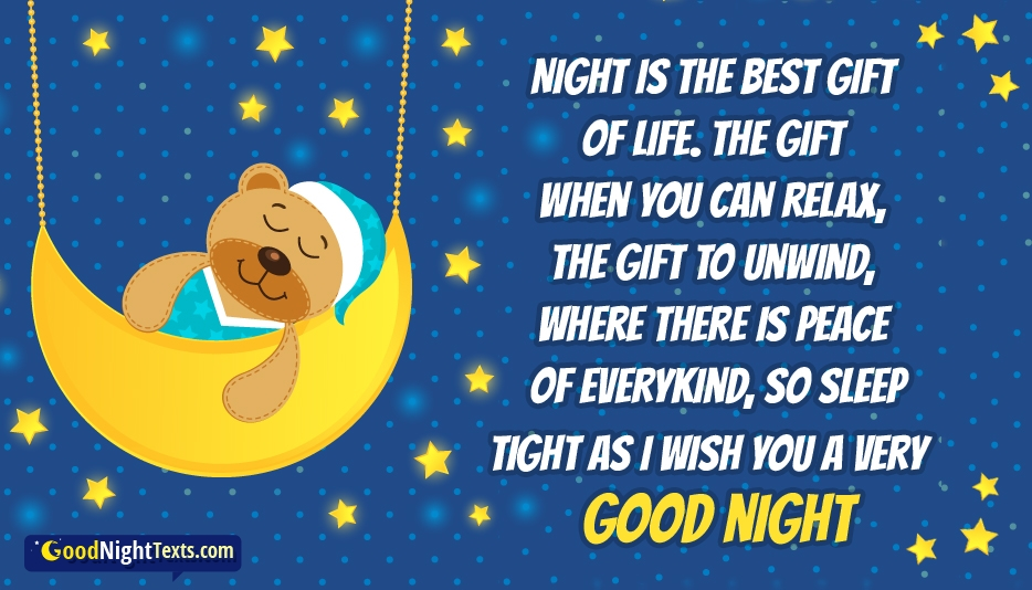 good night text for girl best friend