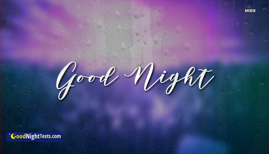 Good Night Rainy Night Text Messages
