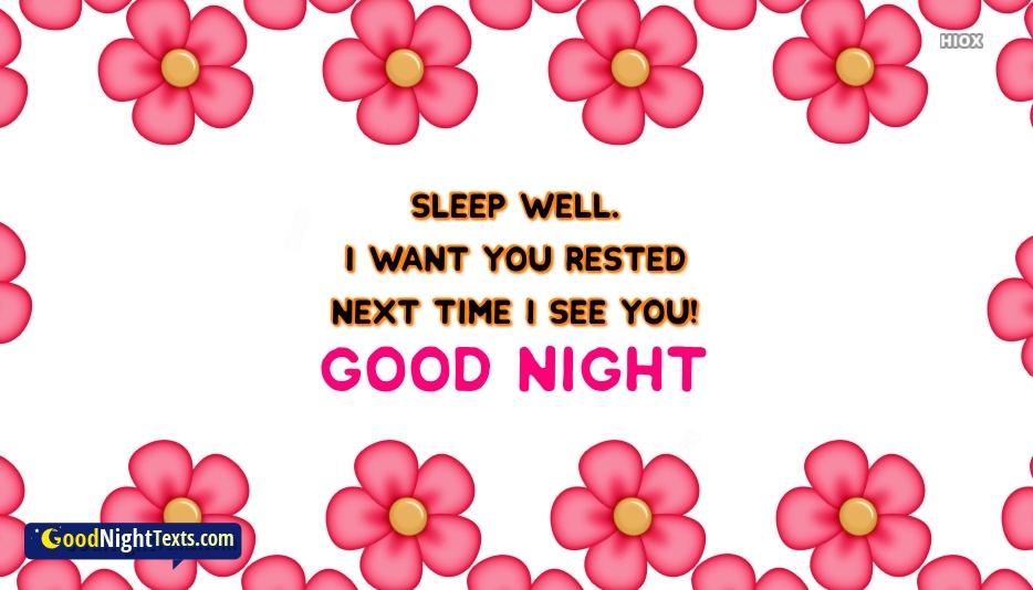 Good Night Texts for Sleep Well
