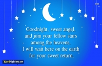 Good Night Hot Messages | Goodnight, Sweet Angel, And Join Your Fellow Stars