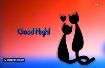 Good Night Messages Cat