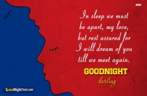 Good Night Messages For Boyfriend | In Sleep We Must Be Apart