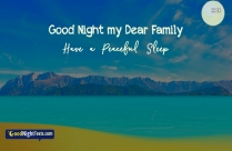 Good Night Messages For Family