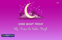 Good Night Messages Friday