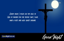 Good Night Messages Jesus