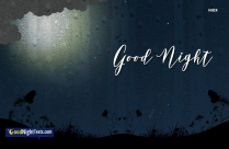 Good Night Messages Rainy Season