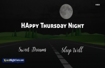 Good Night Messages Thursday