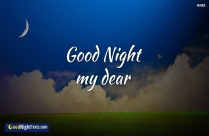 Good Night My Dear Friend Messages