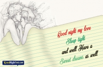 Good Night My Love Sleep Tight