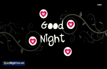Good Night Text Design