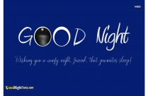 Good Night Text Message For Friend