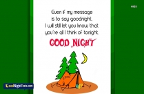 Sweet Good Night Message