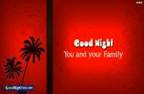 Good Night You And Your Family