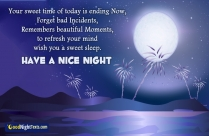Have A Nice Night SMS