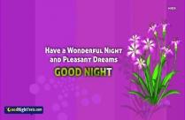 Have Wonderful Dreams Sayings