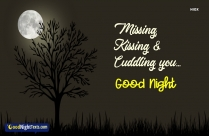 Missing, Kissing And Cuddling You.. Good Night