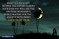 Night Is A Nice Gift, Enjoy It With Sweet Dreams