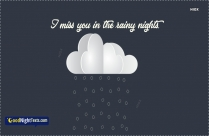 Rainy Good Night Message
