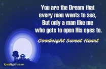 Romantic Good Night Message Good Night Sweetheart