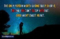 The Only Person Worth Losing Sleep