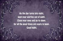 Positive Good Night Text
