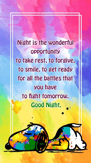Night is The Wonderful Opportunity To Take Rest, To Forgive, To Smile